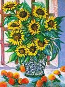 Floral Sculpture Prints - Sunburst Print by Gunter E  Hortz