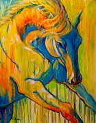 Abstract Horse Paintings - Sunburst by Theresa Paden
