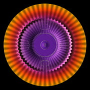 Op Art Digital Art Posters - Sunburst Wheel  Poster by Visual Artist  Frank Bonilla