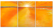 Warm Colors Paintings - Suncatcher by Carole Renselaer Moore