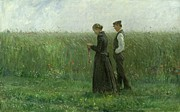 Man And Woman Paintings - Sunday Afternoon by Leopold Karl Walter von Kalckreuth