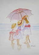 Posters On Paintings - Sunday Best at the Beach by Elvira Ingram