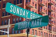 Brunch Prints - Sunday Bloody Sunday Print by Geoff Strehlow