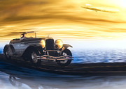 Ocean Mixed Media Metal Prints - Sunday Drive Metal Print by Bob Orsillo