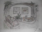 Chevrolet Truck Drawings - Sunday Drive Thru by James Eye