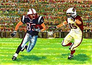 American Football Painting Metal Prints - Sunday Football  Metal Print by Mario  Perez