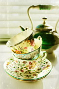 Tea Time Prints - Sunday Morning Print by Colleen Kammerer