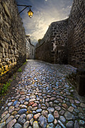 Cobblestones Photos - Sunday Morning by Debra and Dave Vanderlaan
