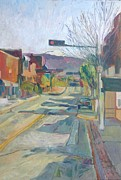 Santa Fe Cowboy Painting Originals - Sunday Morning Gallup New Mexico by Chris  Easley