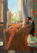 Relax Paintings - Sunday morning in Paris by Natalia Baykalova