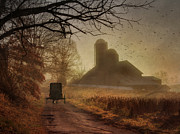Rural Scenes Digital Art - Sunday Morning by Lori Deiter