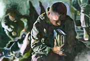 Soldier Painting Originals - Sunday Morning by Maureen Dean
