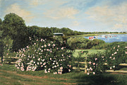 Cape Cod Paintings - Sunday Morning Stroll by OMalley Keyes