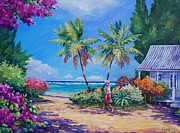 Cayman Islands Prints - Sunday Stroll Print by John Clark