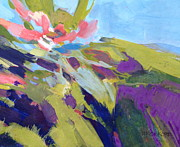 Gouache Abstract Paintings - Sundays Bloom by Deborah Roskopf