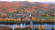 Autumn Foliage Photos - Sunderland Massachusetts Fall Foliage by John Burk