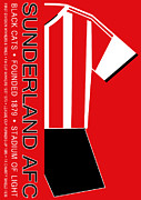Home Football Game Posters - Sunderland Premier League Football Club Poster by Neil Finnemore