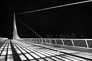 Jamie Pham - Sundial Bridge - Unique and beautiful in Redding California in Black and White.