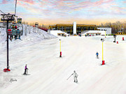Winter Fun Drawings - Sundial Lodge at Nemacolin Woodlands Resort by Albert Puskaric