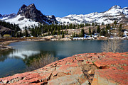 Sundial Prints - Sundial Peak and Lake Blanche in Spring Print by Gary Whitton