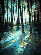 Shirley Sirois    Prints - Sundog Reflections Print by Shirley Sirois
