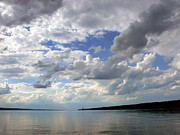 Finger Lake Prints - Sundown On Cayuga Lake Print by Christina Rollo