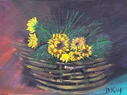 Sunflower Basket Print by The Gypsy And D Kay