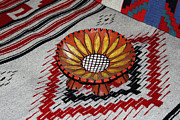 Universities Ceramics Prints - Sunflower Bowl  Print by Tom Janca
