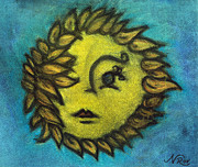 Child Pastels - Sunflower Child by Natalie Roberts