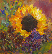 Quin Sweetman Framed Prints - Sunflower Dance Framed Print by Quin Sweetman