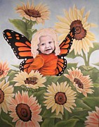 Flower Child Pastels - Sunflower Fairy by Annie Seddon