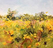 Daily Painter Prints - Sunflower Field Print by Carol Hopper