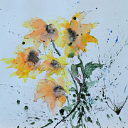 Ismeta Painting Prints - Sunflower- Flower Painting Print by Ismeta Gruenwald