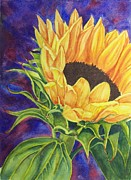 Yellow Flowers Pastels Posters - Sunflower II Poster by Deane Locke