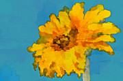 Painted Mixed Media - Sunflower Illusion by Gwyn Newcombe