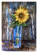Katerina Kovatcheva - Sunflower in a blue vase
