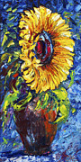 OLena Art - Sunflower In A Vase