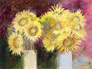 J Reifsnyder Metal Prints - Sunflower Jars Metal Print by J Reifsnyder