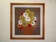 Stones Tapestries - Textiles Originals - Sunflower by Jeler Anita