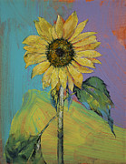 Impasto Oil Paintings - Sunflower by Michael Creese