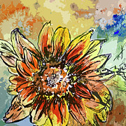 Sunflower Moroccan Eyes Print by Ginette Fine Art LLC Ginette Callaway