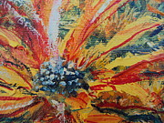 Impressionistic  On Canvas Paintings - Sunflower No.1 by Drinka Mercep