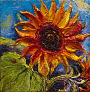 Lancaster Artist Metal Prints - Sunflower Metal Print by Paris Wyatt Llanso