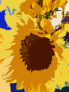 Original Art By Colleen Kammerer Posters - Sunflower Pop Poster by Colleen Kammerer