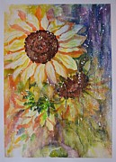 Sunflower Rain Print by Kathleen Pio
