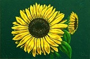 Ron Ron Paintings - Sunflower by Ron Haist