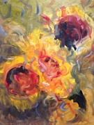 Sunflower Selebrations Print by Karen Carmean