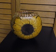 Ink Sculpture Originals - Sunflower select by Carrie Cervantes