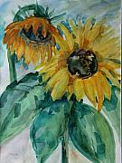 Christiane Schulze Painting Posters - Sunflower - SOLD Poster by Christiane Schulze