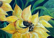 Gallery Paintings - Sunflower Solo by Eloise Schneider